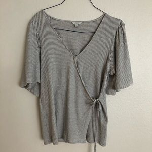 Lucky Brand Tie Wrapped Top Size Large